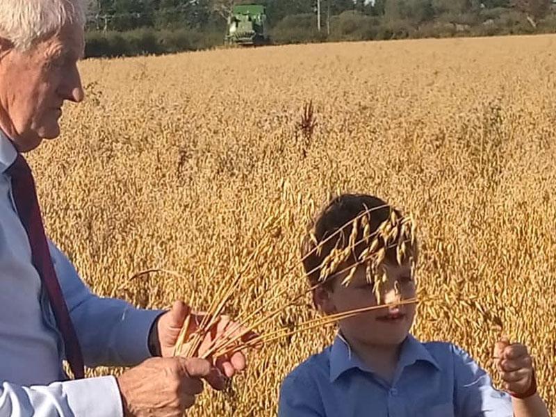 Harvest Day on the Cahill Family Farm